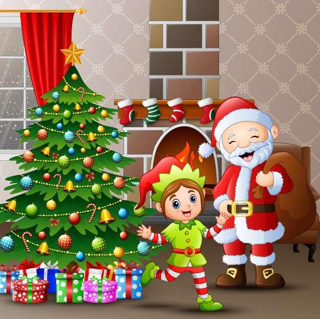 vánoční pozdrav - Vánoční pohlednice puzzle (9×9)