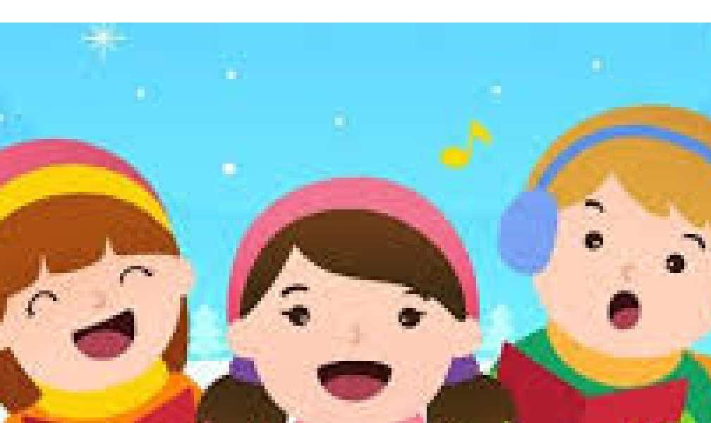 schreiten - Jeden Winter gehen anlässlich der Feiertage viele Kinder zu Weihnachtsliedern (3×2)