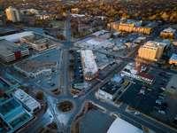 nagy látószögű fotó a városképből