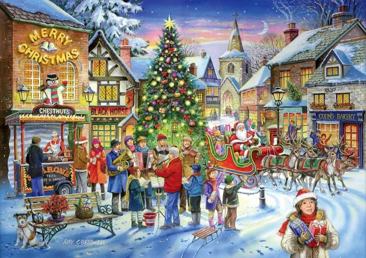 Санта в града - м (14×10)