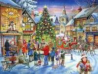 Санта в града
