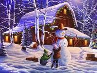 haciendo un muñeco de nieve