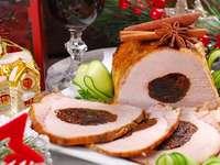 chuleta de cerdo con ciruela