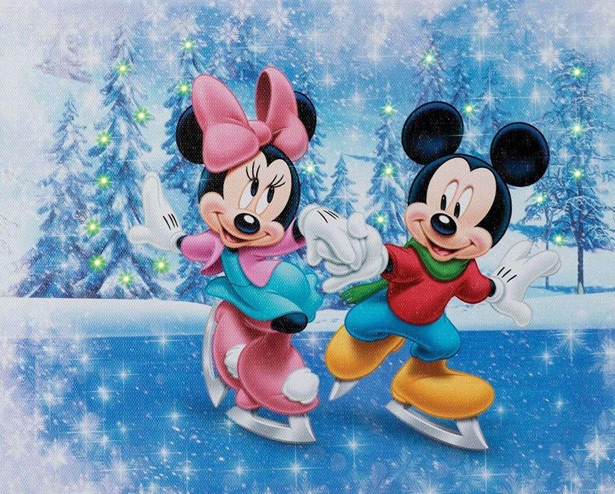 Mickey & Minnie Mouse Skaten (8×7)