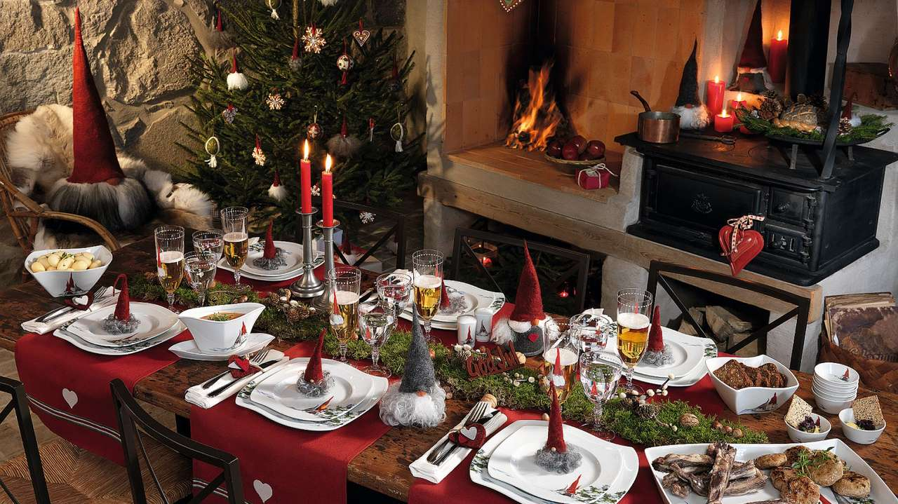 TABLE DE NOËL - DÉCORATIONS DE REVÊTEMENT DE TABLE DE NOËL (3×2)