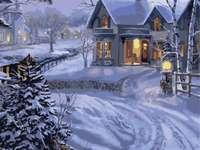 zima, dom