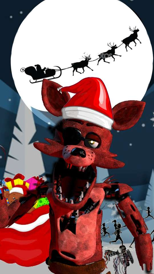 Foxy at Christmas puzzle