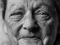 картина в сивата скала на портрета на човек