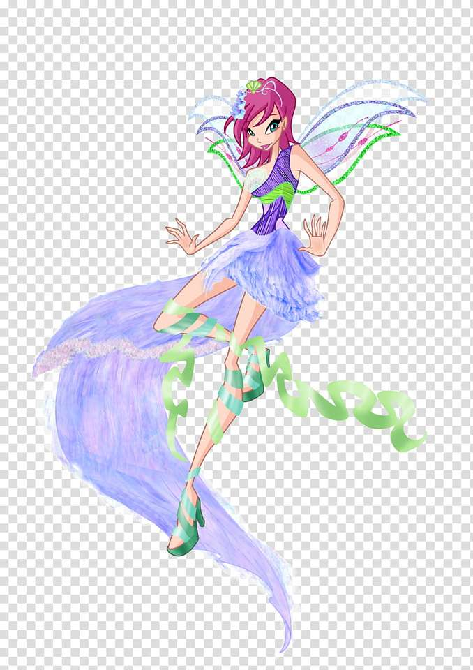 WINX CLUB - Bloom lives on Earth in the city of Gardenia. One day he meets the sorceress from the planet Solaria, Stella. Bloom, saving the girl from the monsters attacking her, discovers that she has magical pow (3×5)