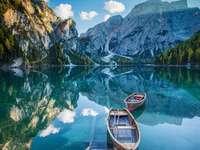 krajobraz z łódką