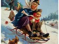 Oma maakt een ritje