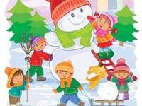 Baba zimní dětské hry zimní