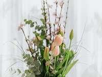 rózsaszín és sárga virágrügyek