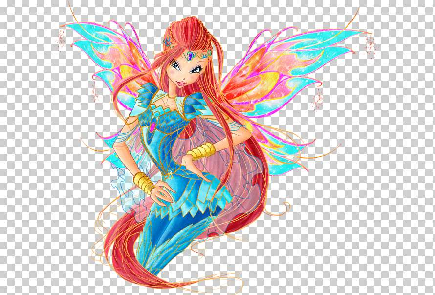WINX CLUB - Bloom lives on Earth in the city of Gardenia. One day he meets the sorceress from the planet Solaria, Stella. Bloom, saving the girl from the monsters attacking her, discovers that she has magical pow (4×3)