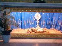 Jesusbarnet från födelsedagens basilika i Betlehem