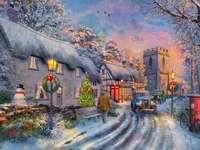 város télen