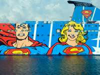 Superman and Supergirl ship's decals