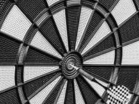 czarno-biały okrągły sufit