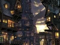 de haven van de stad