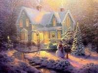 ház télen