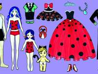 Barbie Ladybug and Cat Doll