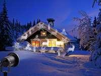 dom zimową porą