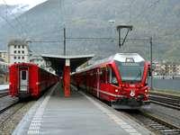 влак в алпите
