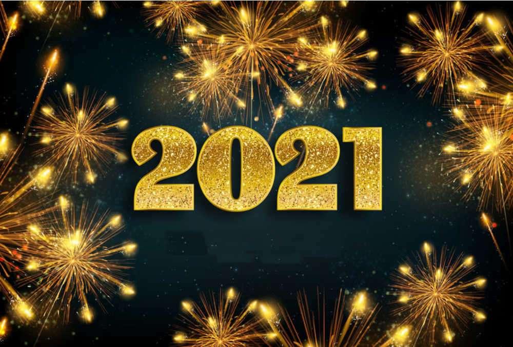 Boldog új évet 2021-ben - 2021-es boldog új évet vagy 2021-es boldog új évet kívánok örök boldogságot (2×2)