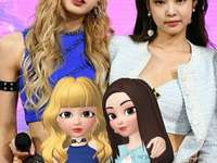 LISA AND JENNIE IN REAL LIFE AND LISA AND JENNIE IN ZEPE