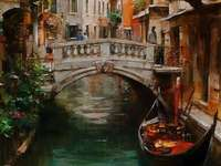 Venedig Seitenkanal Brücke