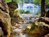 Waterfall pond creek