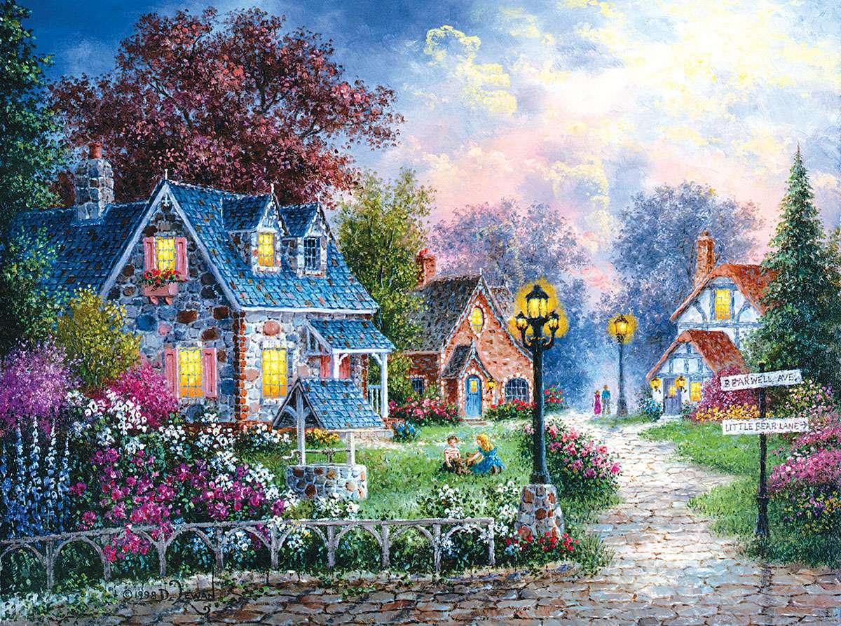 Gemälde Kleines Dorf