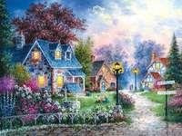 Peinture petit village