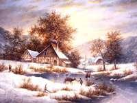 Pintando o inverno no campo