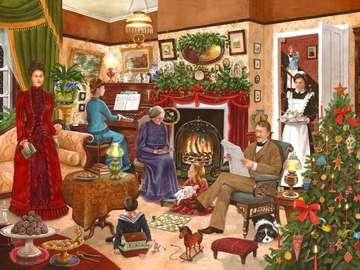 In de kersttijd.