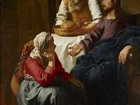 Hristos în casa Mariei și Martei (pictură de Jan Vermeer