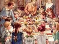 Vánoční večeře pro hodně dětí