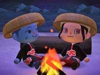Kisame et Itachi font du camping