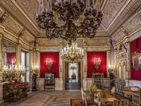 Villa Pignatelli piros szoba Nápoly Olaszország