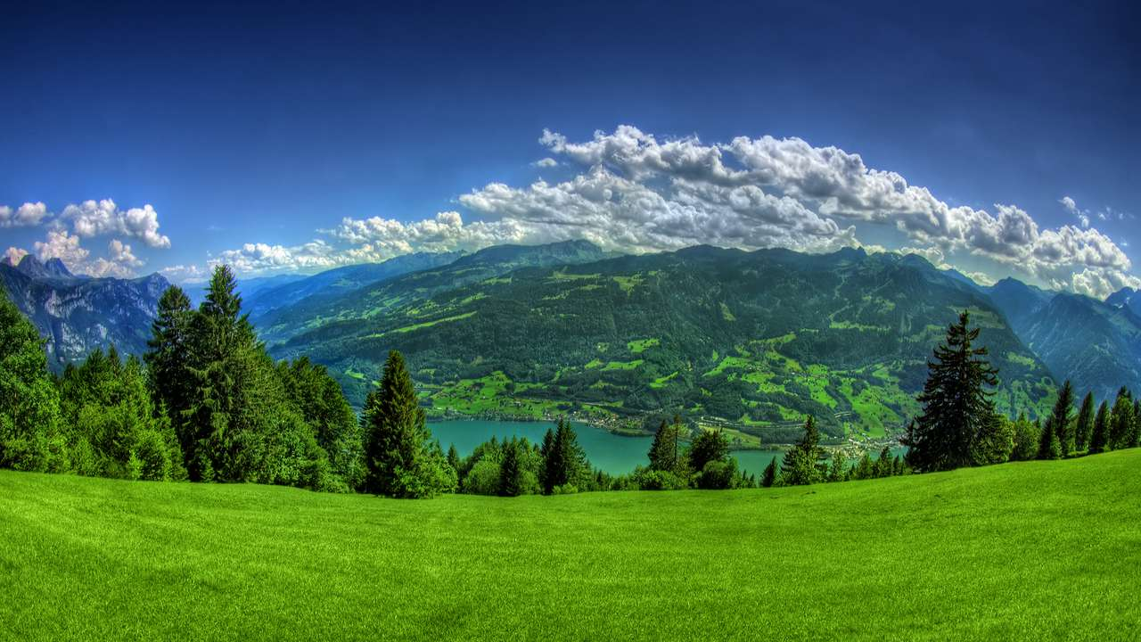cenário do lago - É uma linda paisagem (12×7)