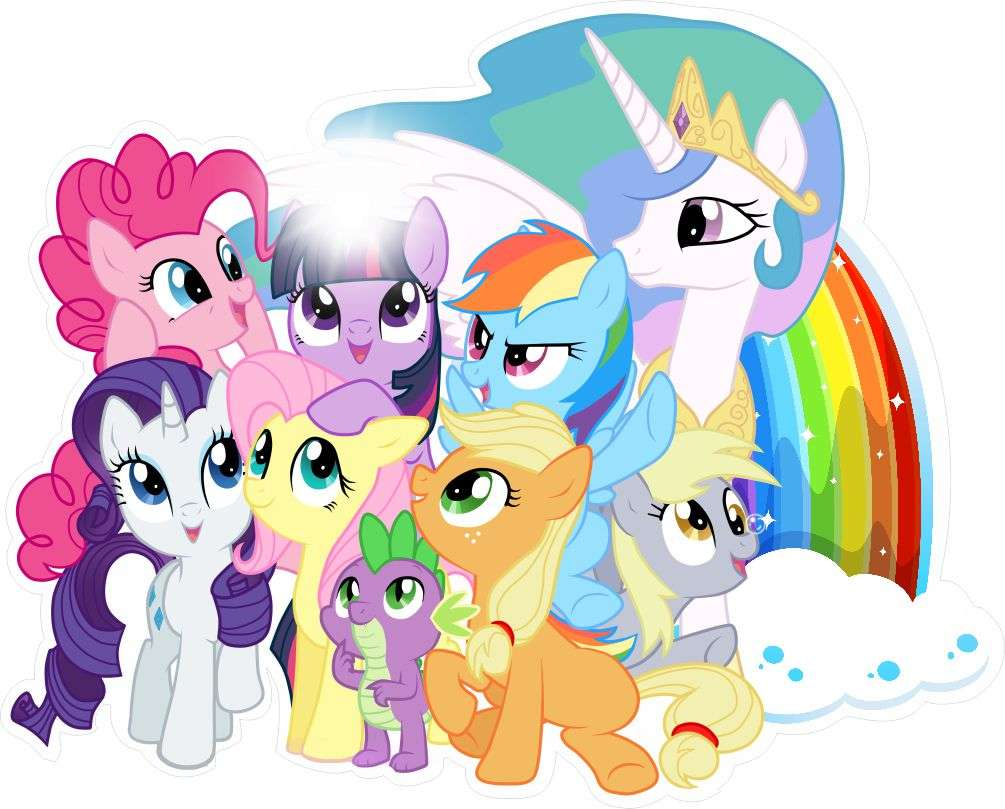 My Little Pony - MY LITTEL PONY AND RAINBOW AND CELESTIA (2×2)