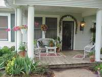 porche devant la maison