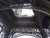 Torre Eiffel, vista dal basso.