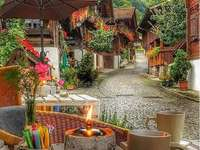 Alpejska wioska.