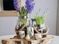 dekoracja z kwiatkami