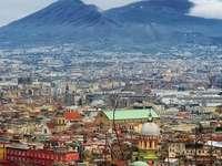 nieve en Nápoles Italia