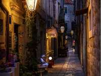 Obrázek nočního Dubrovníku