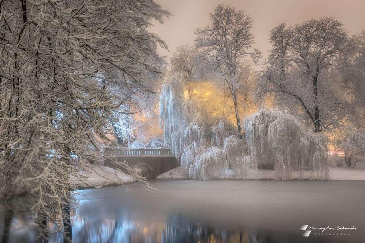 inverno no parque quebra-cabeça online
