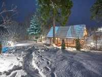 väg i snö