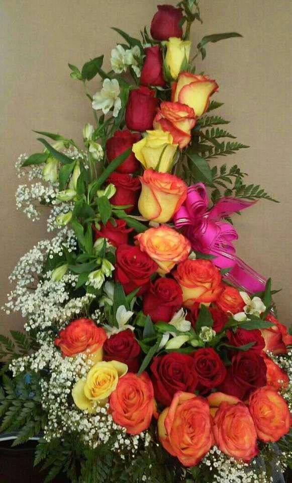 duża kompozycja z róż